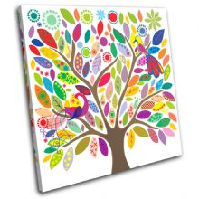Colourful tree Illustration - 13-0340(00B)-SG11-LO